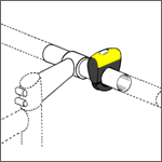 Inclinometer: Tighten, but still hand adjustable