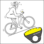 Inclinometer: Ride Uphill the Bubble moves to the front