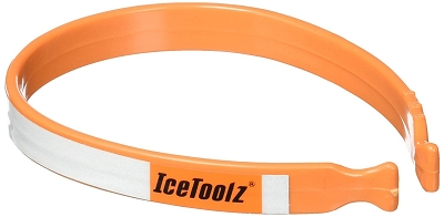 IceToolz - Trouser Clips (2pc) classic spring steel w/reflective tape.....