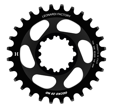 Leonardi - GECKO SRAM spider less round chain ring for SRAM GXP