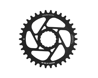 Leonardi - GECKO RACE FACE spider less 28-34 tooth round chain ring for RACE FACE cranksets.