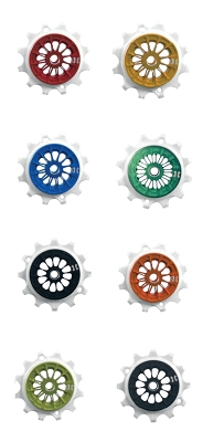 Leonardi - PULLEY SRAM 12V EAGLE XX1 upper jockey wheel white CNC Arnite plastic, aluminum shell, over sized sealed bearing - Various Colors