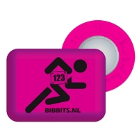 Pink BibBits With Runner includes 4 inner and 4 outer magnets