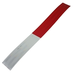 Reflective Bike Tape - Diamond Grade - Red and White