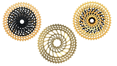 <b>New!</b> Leonardi - GENERAL LEE 946 12V - 12 speed cassette 9 tooth x 46 tooth black CNC machined/Gold 7075 T6. Fits XD only