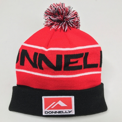 Donnelly Pom Pom Beanie, Red